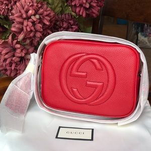 NWT Gucci Soho Disco Crossbody Bag in Vibrant Red